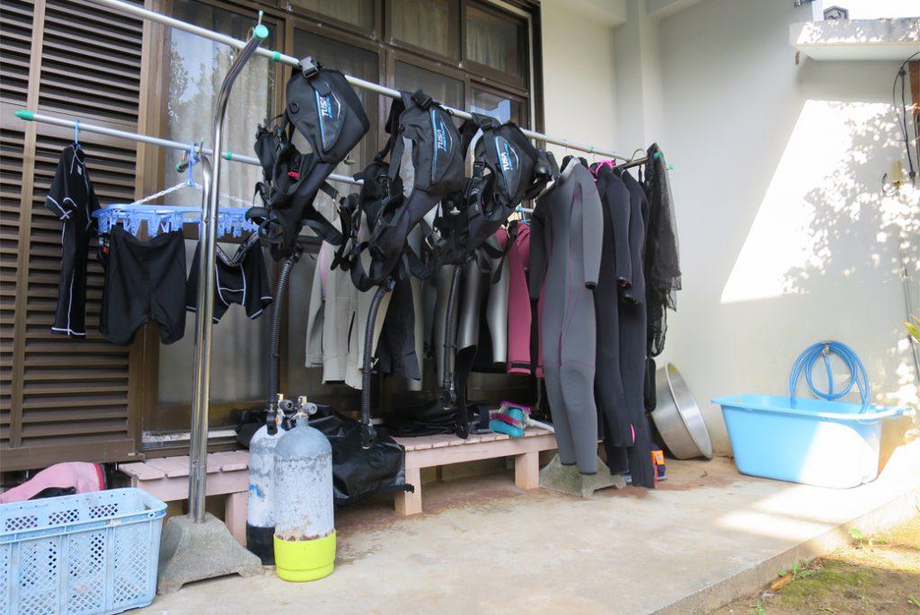 器材洗い場&干し場