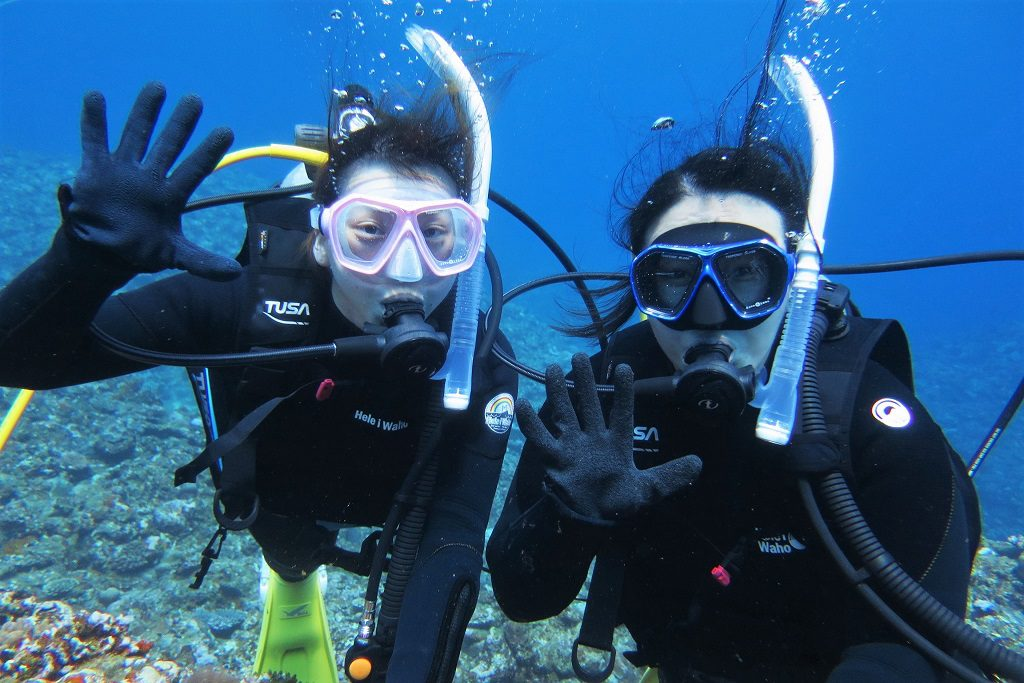 体験ダイビング お友達と