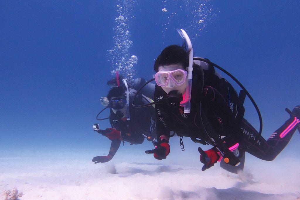 体験ダイビング ご夫婦
