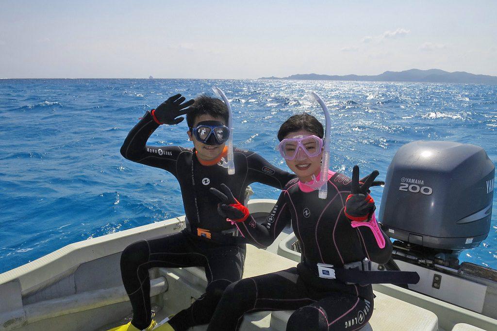 体験ダイビング参加のご夫婦