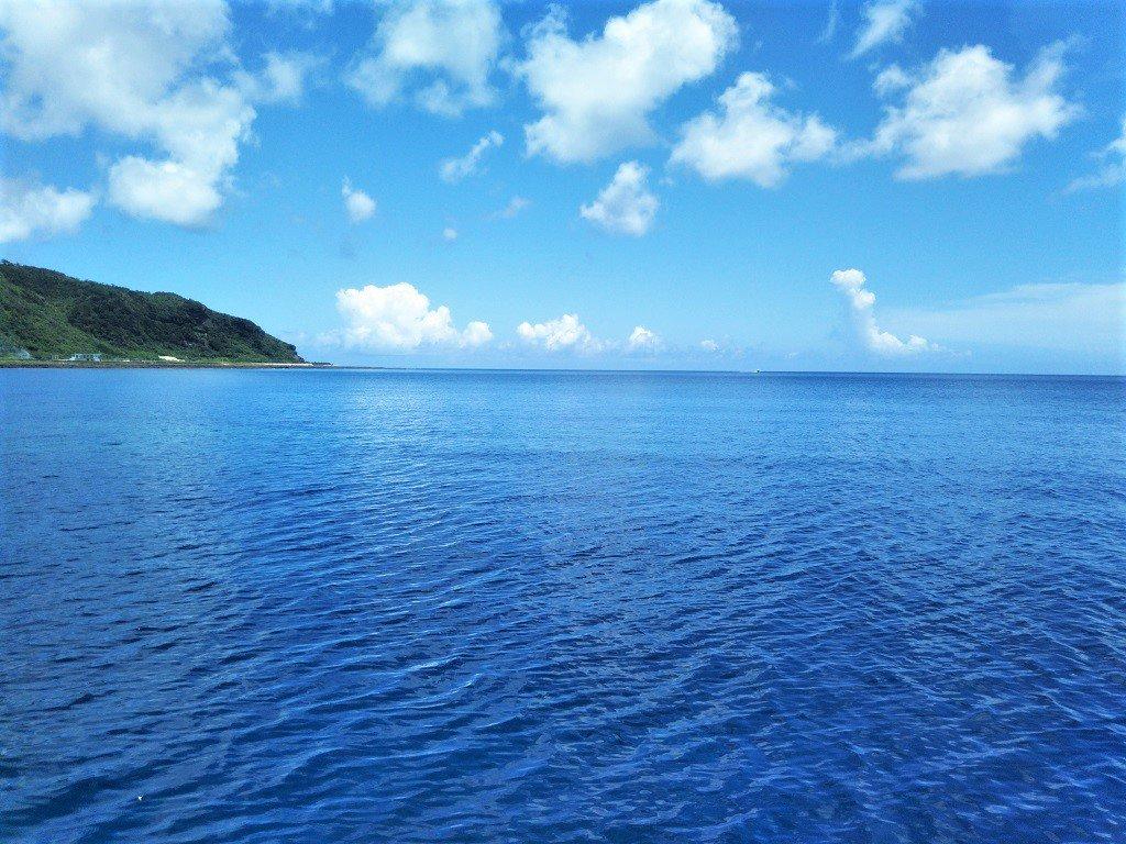 久米島の夏の空