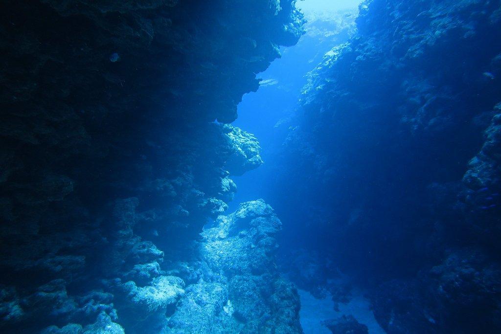 クレバスの中の景色