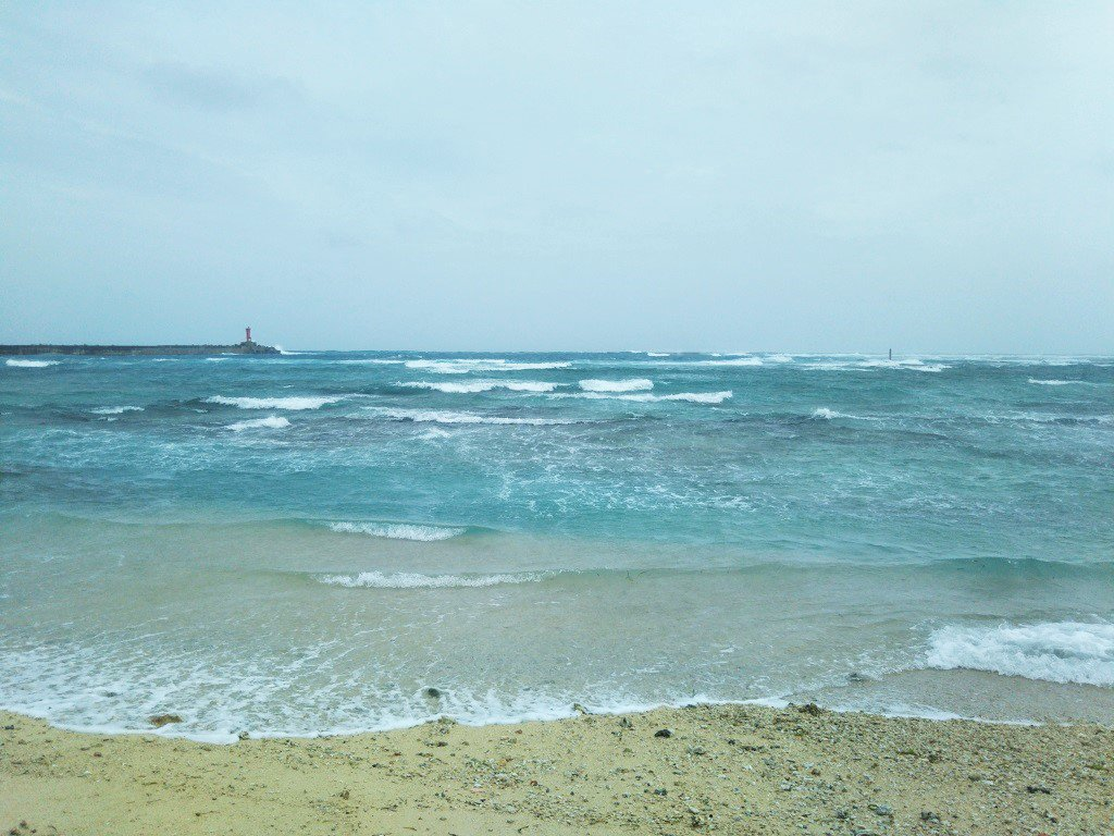 28日午前中の海