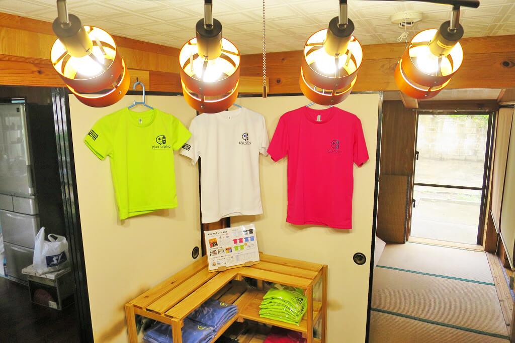 Tシャツ展示コーナー