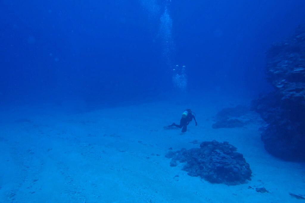 深場の砂地