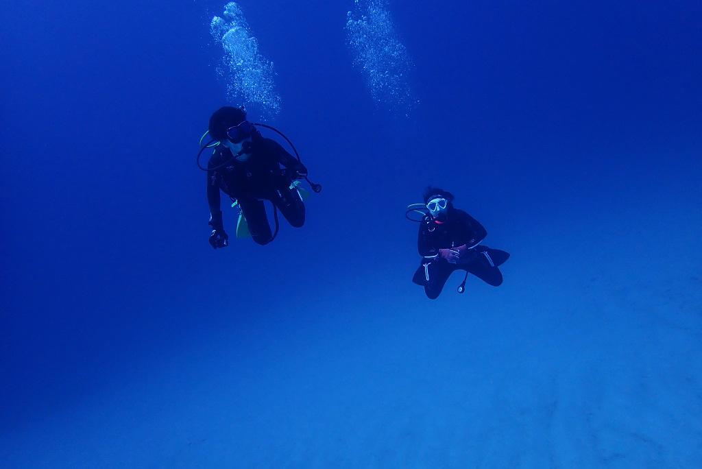 水深40mの砂地