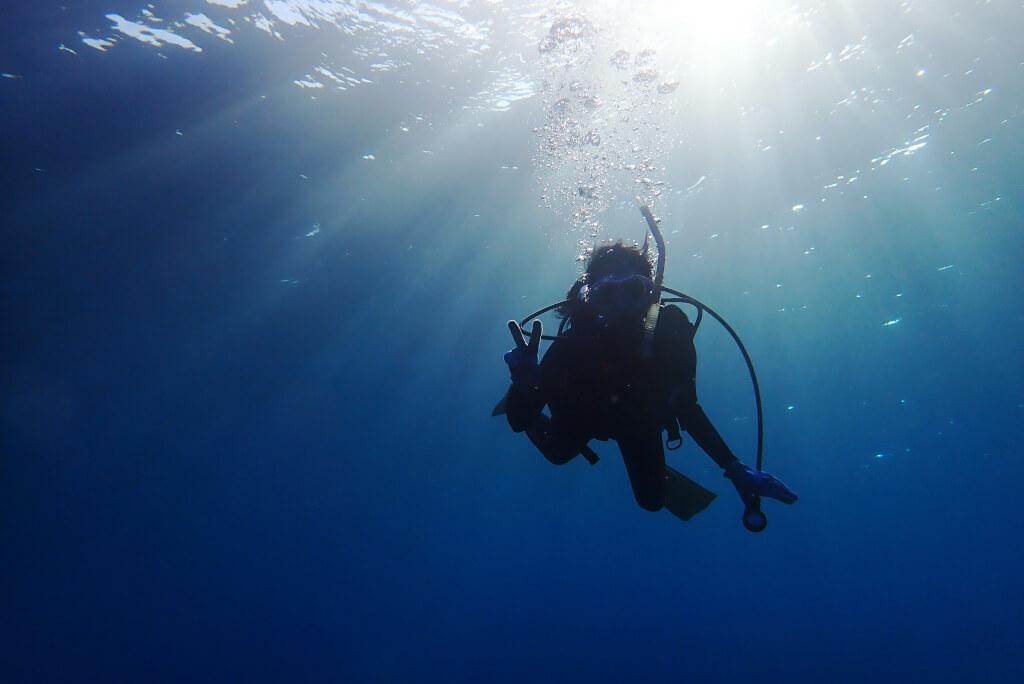 体験ダイビングのゲストさん
